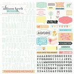 Websters Pages - Hello World Collection - 12 x 12 Cardstock Stickers - Alphabet