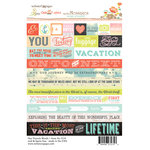 Websters Pages - Our Travels Collection - Cardstock Stickers - Mini Messages - Words