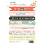Websters Pages - Our Travels Collection - Cardstock Stickers - Mini Messages - Sentiments