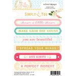 Websters Pages - Growing Up Girl Collection - Cardstock Stickers - Mini Messages - Sentiments