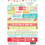 Websters Pages - Party Time Collection - Cardstock Stickers - Mini Messages - Words