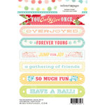 Websters Pages - Party Time Collection - Cardstock Stickers - Mini Messages - Sentiments