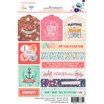 Websters Pages - Ocean Melody Collection - Cardstock Stickers - Tag and Prompt