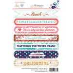 Websters Pages - Ocean Melody Collection - Cardstock Stickers - Sentiment