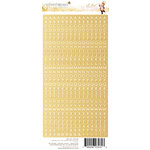 Websters Pages - All That Glitters Collection - Christmas - Cardstock Stickers - Little Letter - Gold