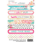 Websters Pages - Beautiful Chic Collection - Cardstock Stickers - Sentiments