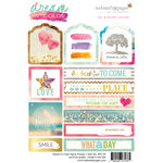 Websters Pages - Dream in Color Collection - Cardstock Stickers - Tags and Prompts