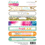 Websters Pages - Dream in Color Collection - Cardstock Stickers - Sentiments