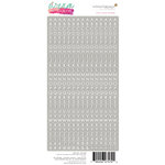 Websters Pages - Dream in Color Collection - Cardstock Stickers - Little Letters - Grey