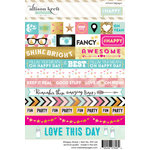 Websters Pages - Happy Collection - Cardstock Stickers - Word