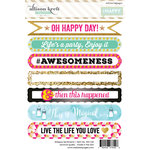Websters Pages - Happy Collection - Cardstock Stickers - Sentiments