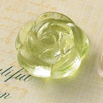 Websters Pages - Sparklers - Non Adhesive Designer Buttons - Rose - Light Green