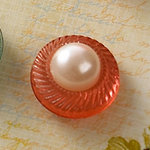 Websters Pages - Sparklers - Non Adhesive Designer Buttons - Pearl - Rose