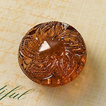 Websters Pages - Sparklers - Non Adhesive Designer Buttons - Medallion - Small - Brown