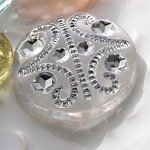 Websters Pages - Sparklers - Non Adhesive Designer Buttons - Vintage 7 - Clear