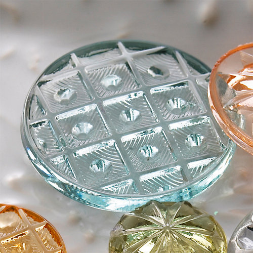 Websters Pages - Sparklers - Non Adhesive Designer Buttons - Vintage 7 - Aqua