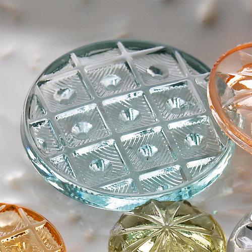 Websters Pages - Sparklers - Non Adhesive Designer Buttons - Vintage 7 - Aqua