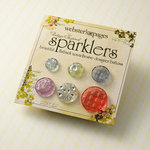 Websters Pages - Sparklers - Non Adhesive Designer Buttons - Vintage 2 - Variety