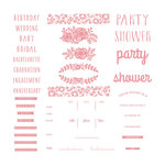 We R Memory Keepers - Letterpress Plates - Floral Invite