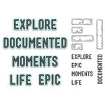 We R Memory Keepers - Die and Clear Acrylic Stamps Set - Moments