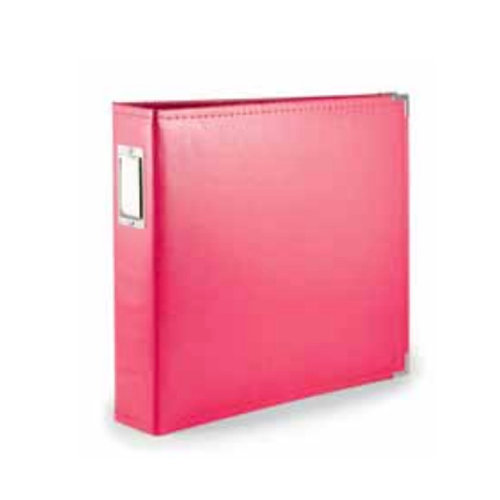 We R Memory Keepers - Albums Made Easy - Classic Leather - 8 x 8 - Three Ring Albums - Strawberry