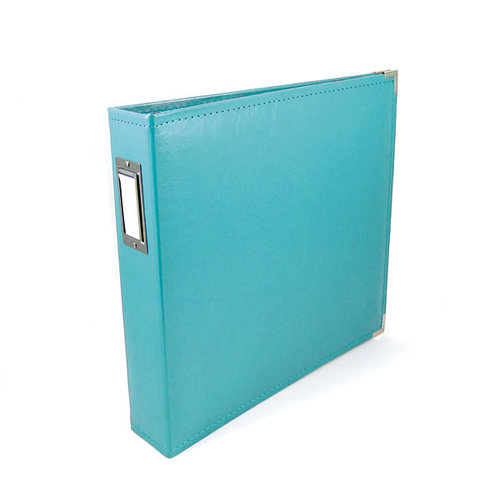 We R Memory Keepers - Classic Leather - 8.5 x 11 - Three Ring Albums - Aqua