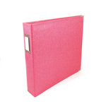 We R Memory Keepers - Classic Leather - 12 x 12 - Three Ring Albums - Strawberry
