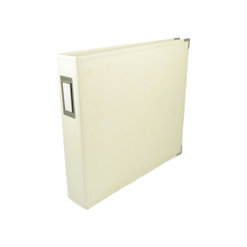 We R Memory Keepers - Classic Leather - 12 x 12 - Three Ring Albums - Vanilla