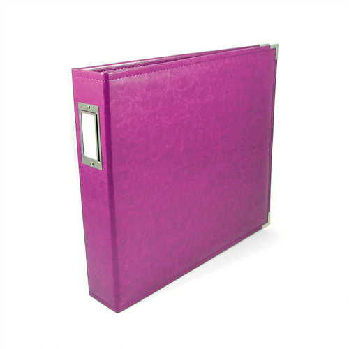 We R Memory Keepers - Classic Leather - 12 x 12 - Three Ring Albums - Plum