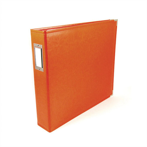 We R Memory Keepers - Classic Leather - 8.5 x 11 - Three Ring Albums - Orange Soda