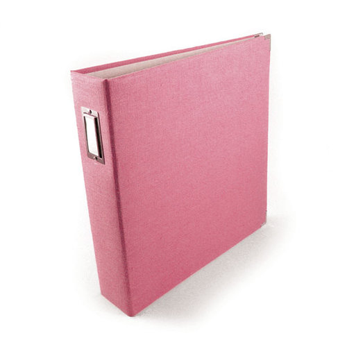 We R Memory Keepers - Linen - 12 x 12 - Three Ring Albums - Bubble Gum