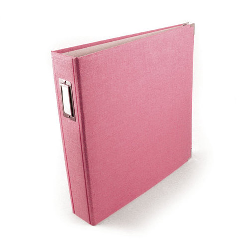 We R Memory Keepers - Linen - 12 x 12 - Postbound Albums - Bubble Gum