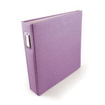 We R Memory Keepers - Linen - 12 x 12 - Postbound Albums - Grape Ice