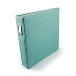 We R Memory Keepers - Linen - 12 x 12 - Postbound Albums - Aquamarine