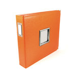 We R Memory Keepers - Classic Leather - 12 x 12 - Three Ring Albums with Window - Orange Soda