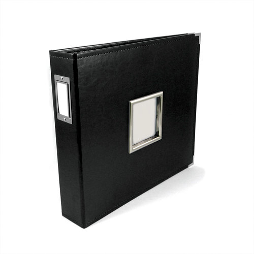 We R Memory Keepers - Classic Leather - 12 x 12 - Three Ring Albums with Window - Black