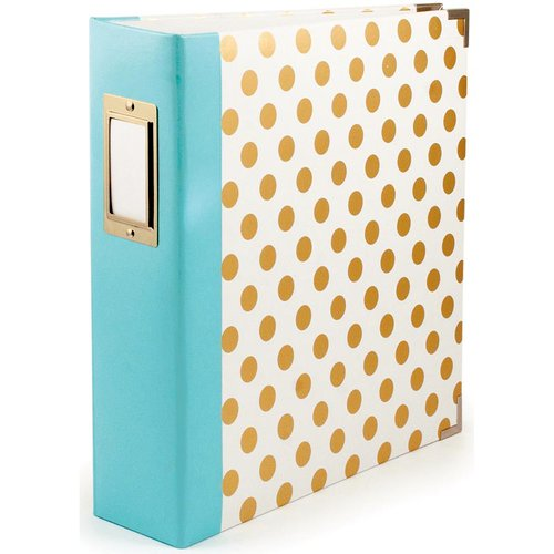 We R Memory Keepers - Teresa Collins - Studio Gold Collection - 8.5 x 11 Three Ring Album - Dot