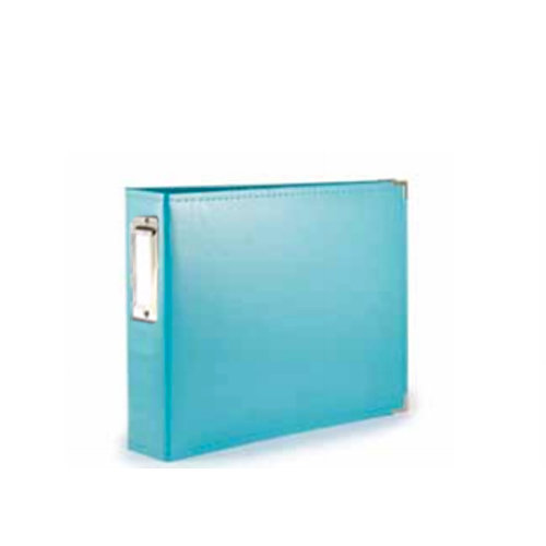 We R Memory Keepers - Albums Made Easy - Classic Leather - 4 x 6 - Two Ring Albums - Aqua