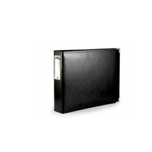 We R Memory Keepers - Albums Made Easy - Classic Leather - 4 x 6 - Two Ring Albums - Black