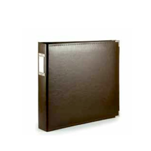 We R Memory Keepers - Albums Made Easy - Classic Leather - 8 x 8 - Three Ring Albums - Brown