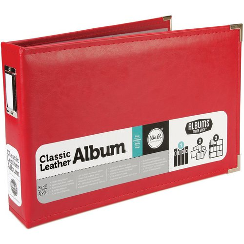 We R Memory Keepers - Albums Made Easy - Classic Leather - 12 x 8 - Three Ring Albums - Red