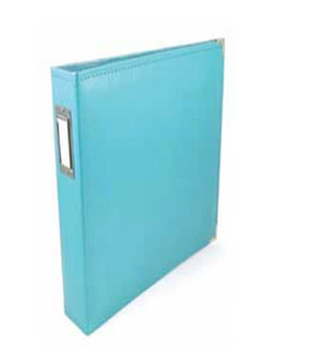 We R Memory Keepers - Albums Made Easy - Classic Leather - 12 x 8 - Three Ring Albums - Aqua