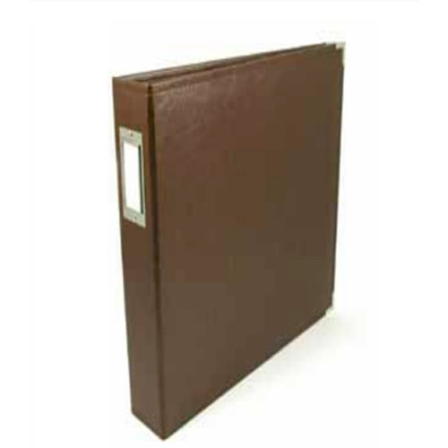 We R Memory Keepers - Albums Made Easy - Classic Leather - 6 x 12 - Three Ring Albums - Brown