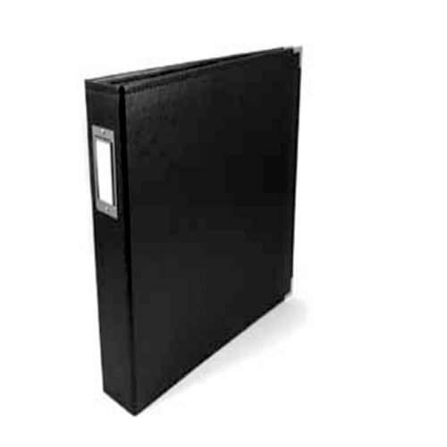 We R Memory Keepers - Albums Made Easy - Classic Leather - 6 x 12 - Three Ring Albums - Black