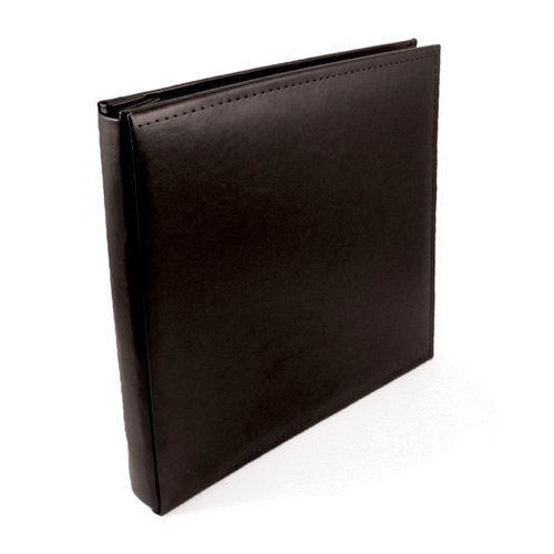 We R Memory Keepers - Classic Leather - 12 x 12 - Post Bound Albums - Black
