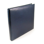 We R Memory Keepers - Classic Leather - 12x12 - Post Bound Albums - Navy