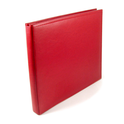 We R Memory Keepers - Classic Leather - 12x12 - Post Bound Albums - Real Red