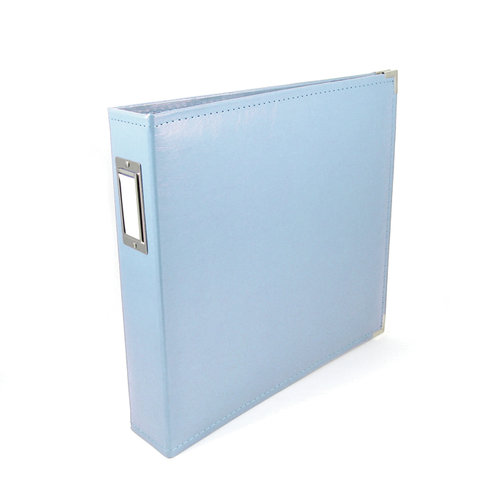 We R Memory Keepers - Classic Leather - 12x12 - Three Ring Albums - Baby Blue