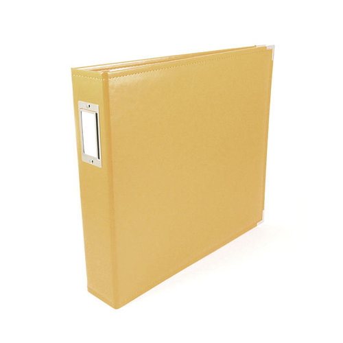 We R Memory Keepers - Classic Leather - 8.5x11 - Three Ring Albums - Buttercup
