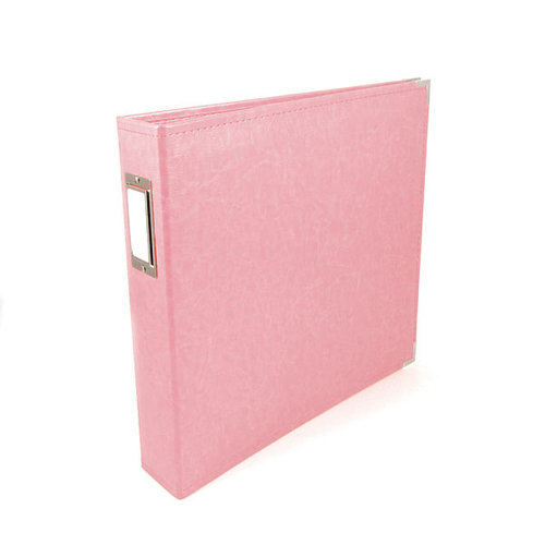 We R Memory Keepers - Classic Leather - 8.5x11 - Three Ring Albums - Pretty Pink
